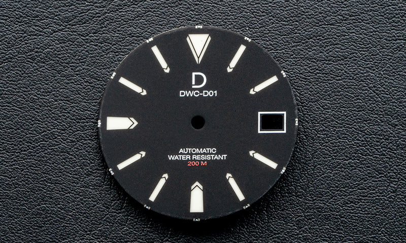 DWC D01 Lume Dial - Seiko NH35 with Date (PD-D01-NH35-BL)