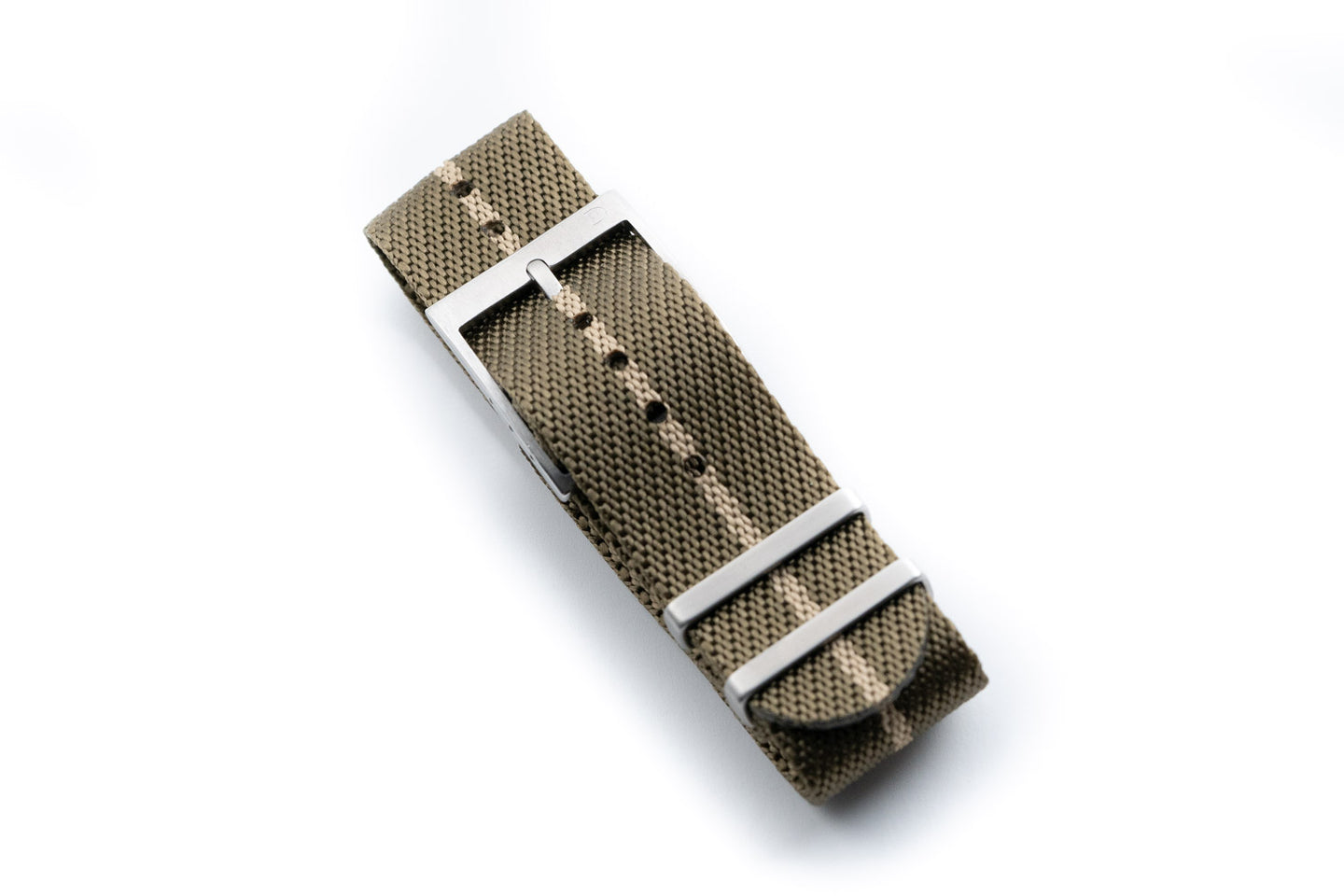 DIY Watch Club Classic NATO Strap - Olive with Khaki centerline