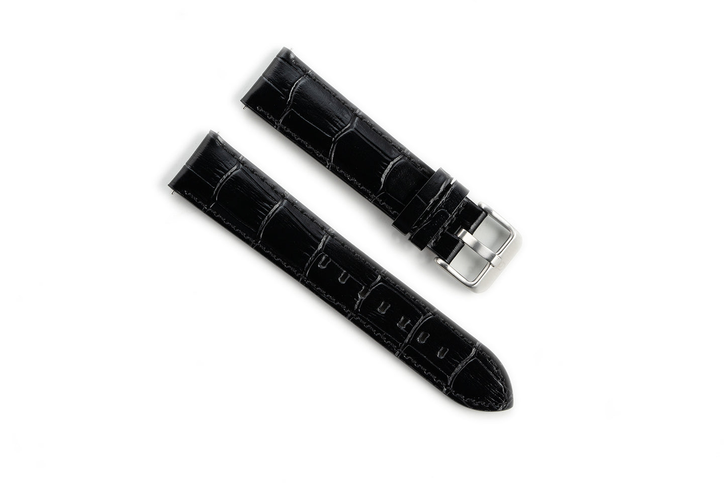 EONIQ Alligator Straps -- Onyx Black
