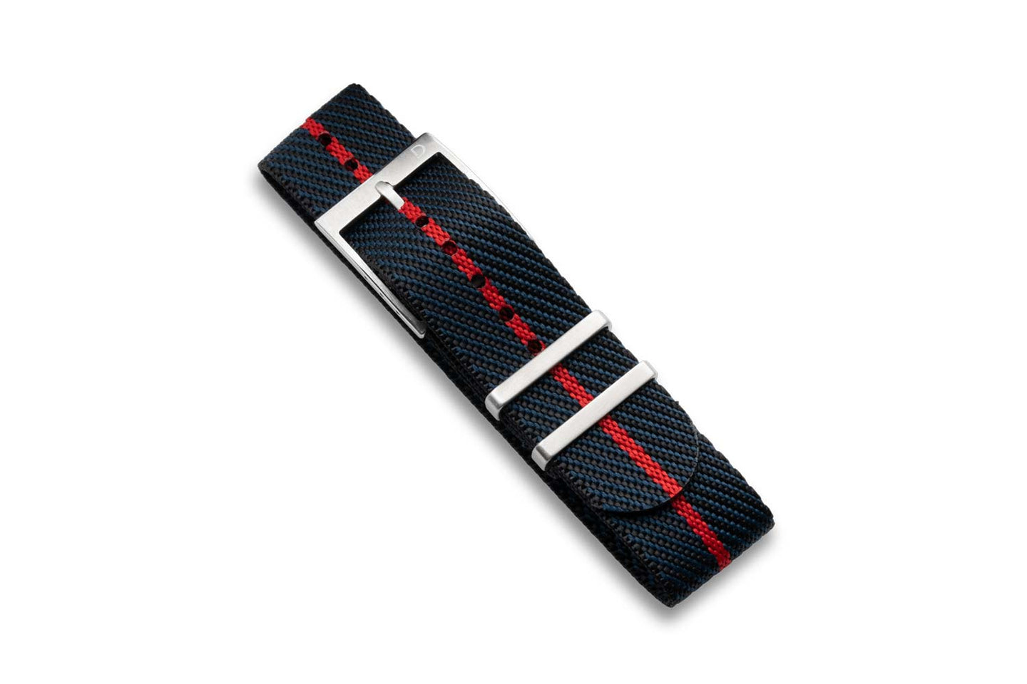DIY Watch Club Classic NATO Strap - Navy x Black with Red centerline