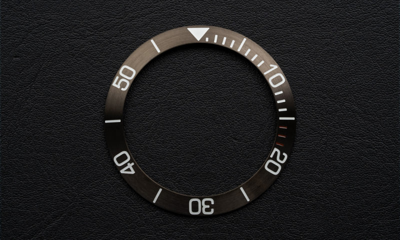Brown stainless steel bezel insert for Seiko Mod (Requires DWC bezel)