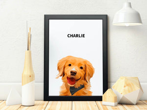Custom Pet Framed Portrait
