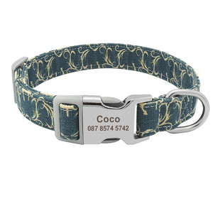 Premium Nylon Dog Collar with Custom Engraving