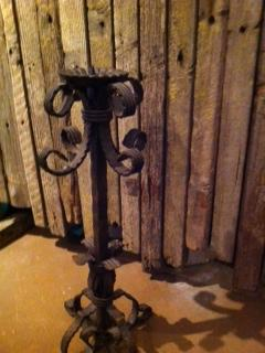 Candelabra Standing Tuscan Wrought Iron 16