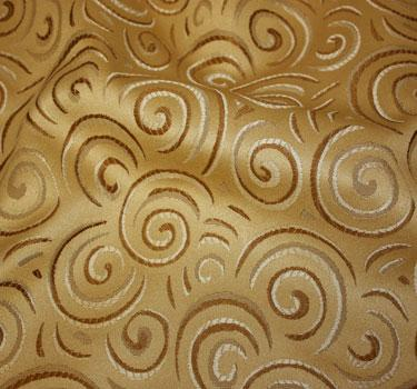 Jacquard Gold Swirl Tbl Runr Purchase Only! 1'X10'
