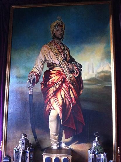 Painting Indian Prince Framed Brushed Gold