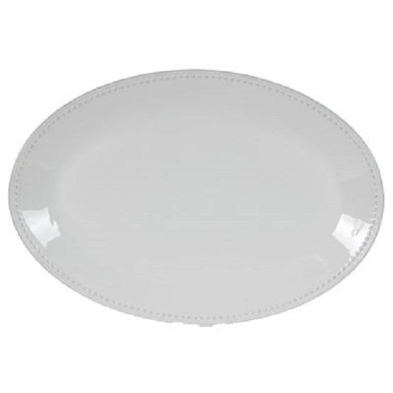 Serving Platter Pearl Ivory Oval 20