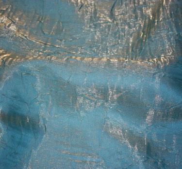 Crushed Iridescent Satin Turquoise Napkin 20