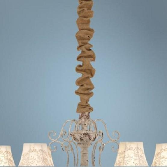 Burlap Chandelier Chain Wrap 6' L With Velcro
