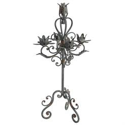 Candelabra Vine Filigre Distressed Iron (5 Candle)