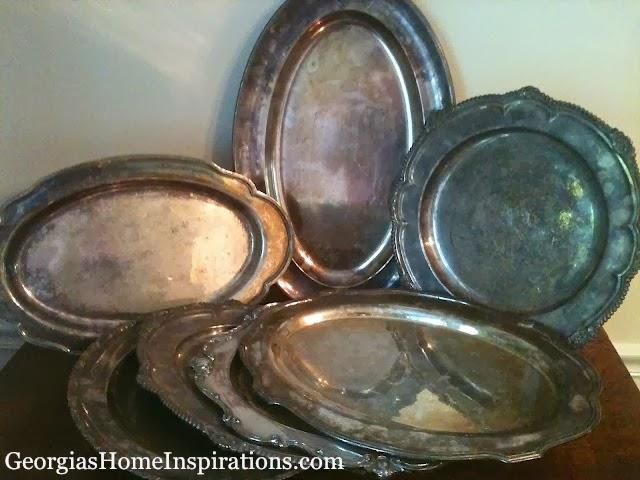 Tray Vintage Silver Plate Various Sizes