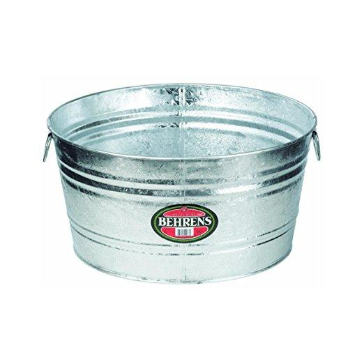 Ice Tub Galvanized Small 4 Gallon