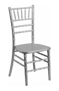 Chair Chiavari Silver/Cushion Added Seperately