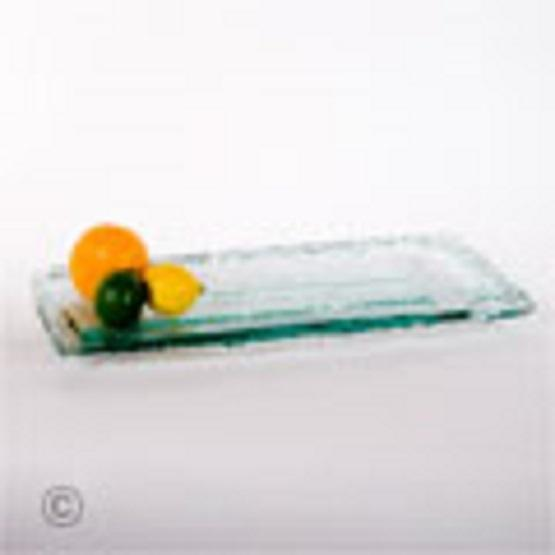 Serving Platter Via Glass Rectangle 9