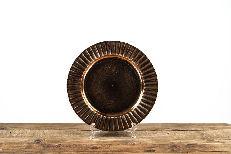 Deco Brushed Copper Gold Charger