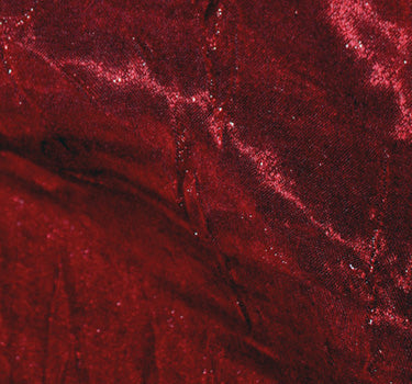 Crushed Iridescent Satin-Red