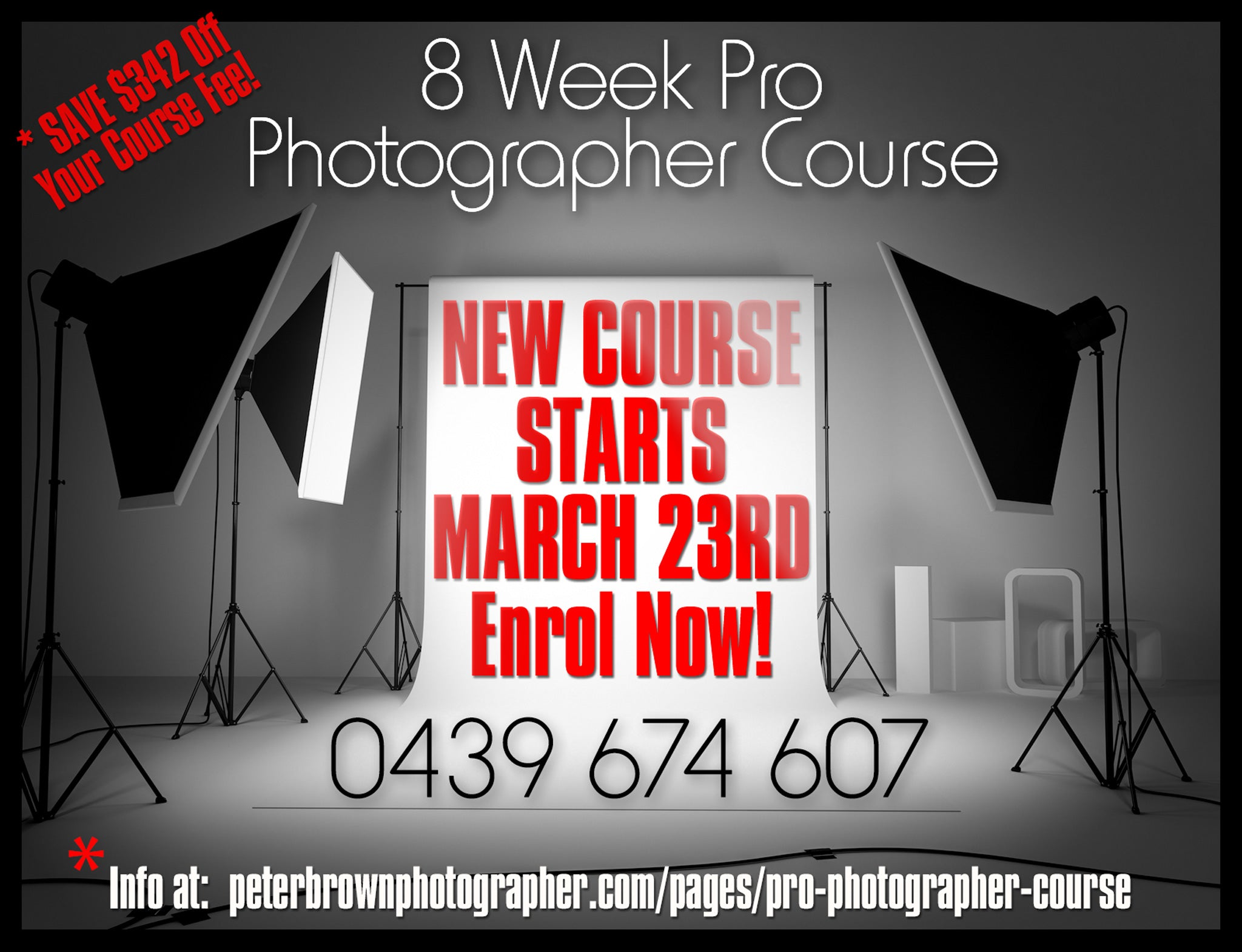 8 WEEK PRO PHOTOGRAPHER COURSE Starting March 23rd