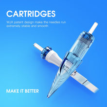 Load image into Gallery viewer, WJX Tattoo Cartridges Bugpin Curved Magnum Short Taper 1017RM