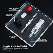 Load image into Gallery viewer, Dragonhawk Tattoo Finger Ledge Cartridges Needles 0.30mm Round Liner