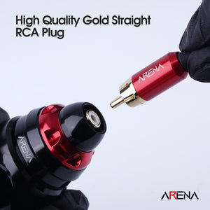 Arenahawk RCA Cord for Tattoo Machines Power Box Connected