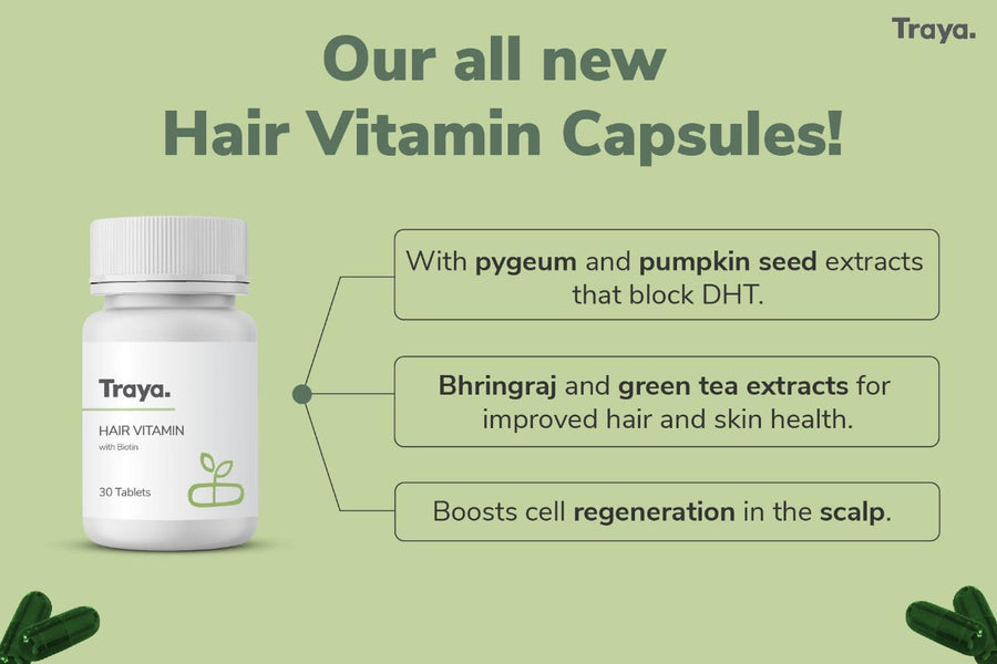 Traya's All New Vitamin Capsules for Better Hair Growth