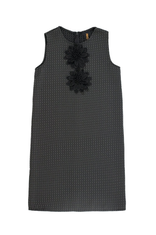 Black Grey Sleeveless Shift Party Cocktail Fancy