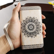 Retro Pattern Leather Flip Wallet Phone Case Cover