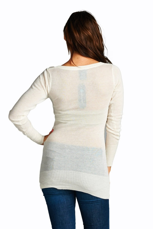 Women's Deep V Sweater