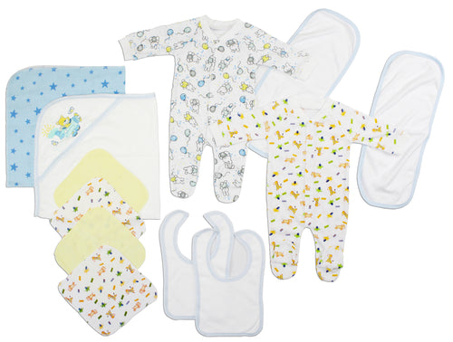 Newborn Baby Boys 16 Pc Layette Baby Shower Gift
