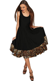 Black Leopard Vizcaya Fit & Flare Dress - Women
