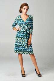 Women's Front Tie Ikat Printed Dress
