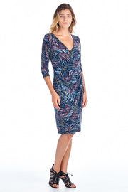 Women's 3/4 Three Quarter Sleeve Abstract Pattern
