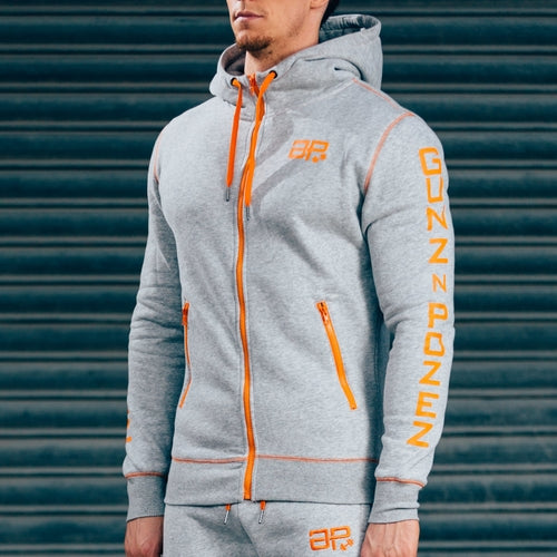CozyFit Hoodies - Grey & Orange