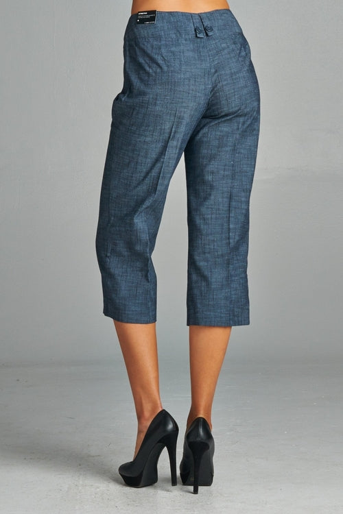 Women's Dark Navy Capris