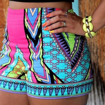 Summer Retro Sexy Yoga Shorts Women High Waist Shorts Floral Print Beach Gym Shorts Pants Lightweight Loose free shipping