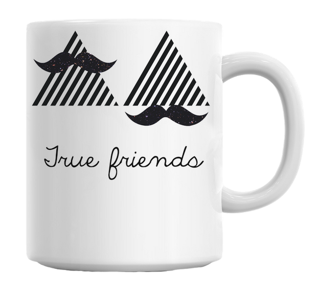 True Friends Art Mug