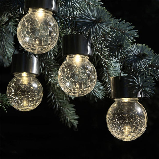 LED Round Ball Lights Christmas decorations Solar Rotatable Outdoor Garden