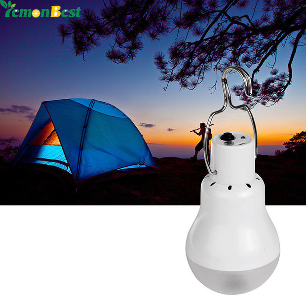 Solar LED Camping Tent Light Rechargeable Night Lamp Lantern for Outdoor Hiking Cool White