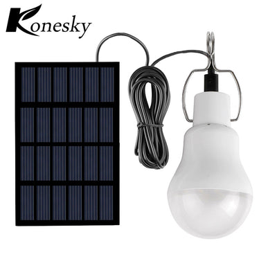 Konesky Solar panel LED bulb LED Solar Lamp Solar Power LED Light Outdoor Solar Lamp Spotlight Garden Light