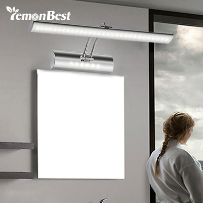 LemonBest 550mm adjustable bathroom mirror light pouplar led mirror lamp bulb 85-265V 7W bedroom wall Lamp sconce with switch