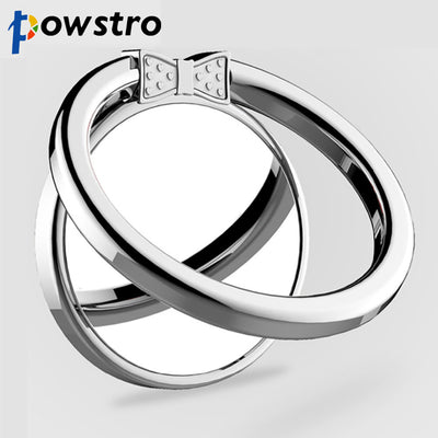 Powstro Metal Cute Bowknot Design Finger Ring with Mirror 360 Rotatable Smartphone Pad Stand Holder for Smartphone Tablet Pad