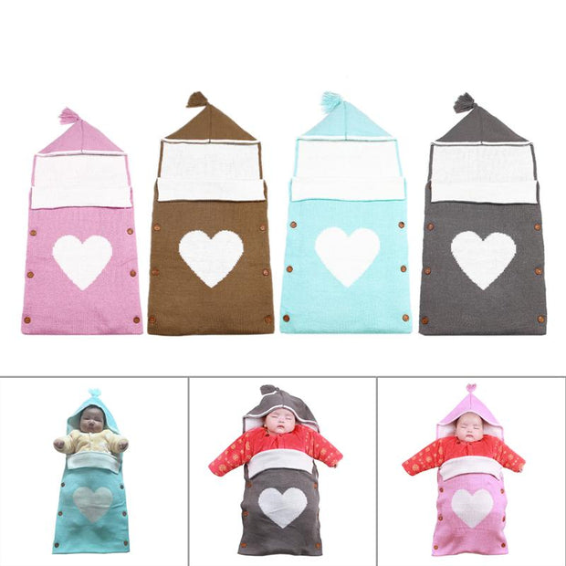 Newborn Baby Wrap Swaddle Blanket 0-12 Months Kids Toddler Wool Knit Blanket Swaddle Baby Sleeping Bag Sleep Sack Stroller Wrap