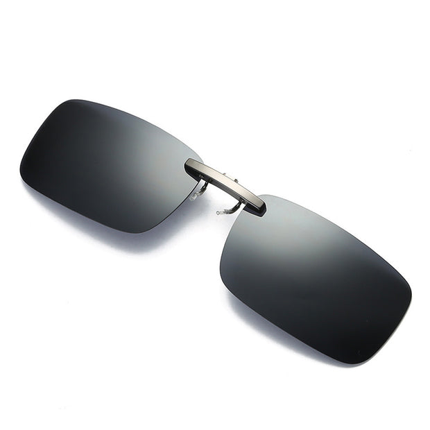 Detachable Night Vision Lens Driving Metal Polarized Clip On Glasses Sunglasses