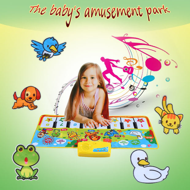 Colorful Musical Learning Mat Flash Piano Music Carpet Blanket Touch Toy for Baby Kids 71 * 28 CM