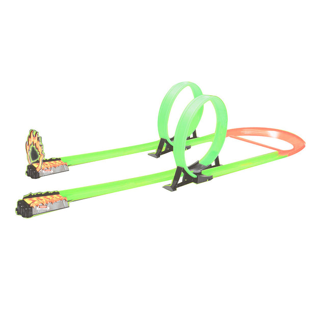 Top Speed Track with Powerful Pull Back Car Vehicle Track Playset