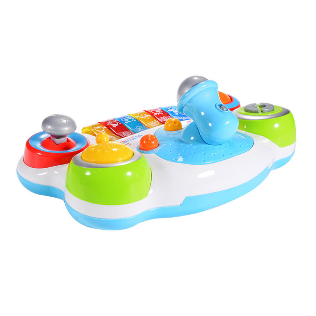 DJ Music Mixer Piano with Microphone for Kids with Music and Light