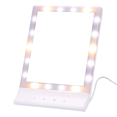 Touch Screen Makeup Cosmetic Lighted Vanity 90°Rotating -Cosmetic Gifts
