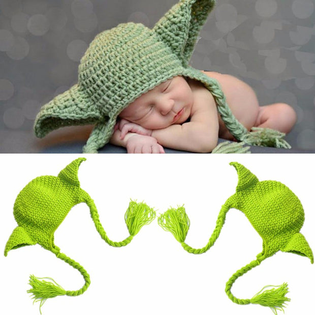 Cute Cartoon Boys Girls Crochet Soft Knitted Handmade Newborn Hat Baby Photo Props