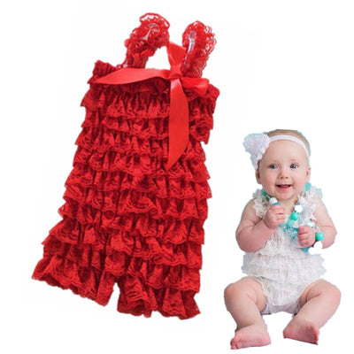 Lovely Baby Toddler Lace Layered Playsuit Petti Tutu Jumpsuit Bodysuit Princess Skirts Photography Photo Props