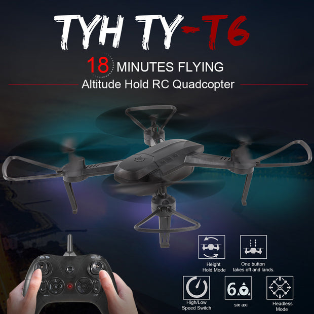 TYH TY-T6 Wifi FPV 2.0MP Wide Angle Camera RC Drone Quadcopter RTF